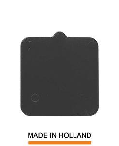 Belplast® Drukplaat zonder sleuf 3mm zwart