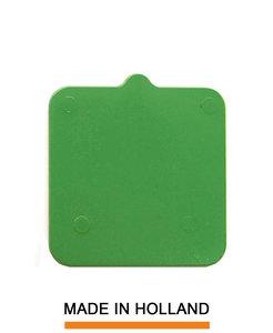 Belplast® Drukplaat zonder sleuf 10mm groen